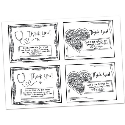 ThankYou Cards for Medical Professionals by Katie Helmreich
