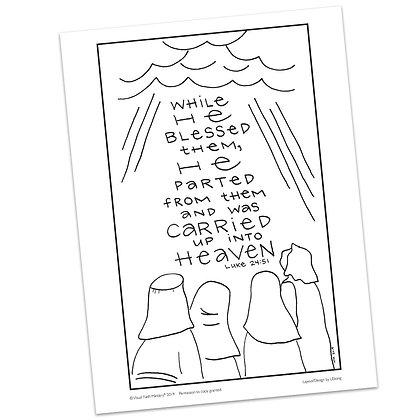 Luke 24:51 HS by Valerie Matyas