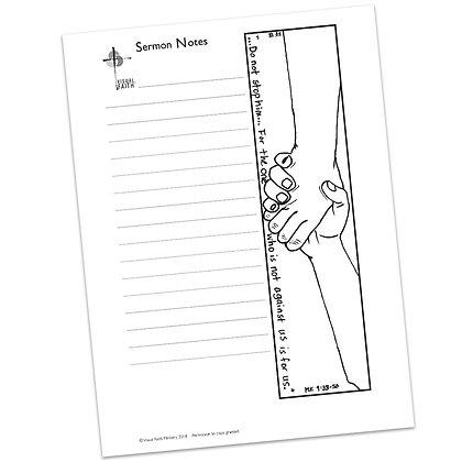 Sermon Notes HS - Mark 9:38-50
