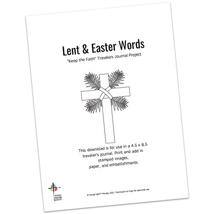 Lent and Easter Words Journal Project