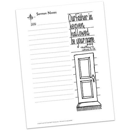 Sermon Notes HS - Matthew 6:7-14
