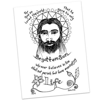 John 3:16 HS by Kim Gilman