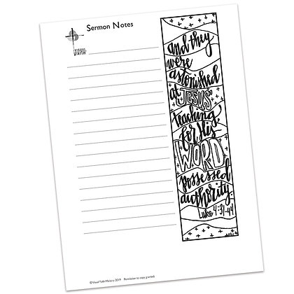 Sermon Notes HS - Luke 4:31-44