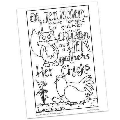 Luke 13:31-35 HS by Ann Gillaspie