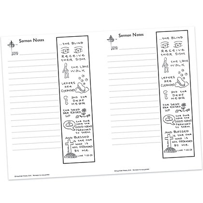 Sermon Notes - Luke 7:22-23