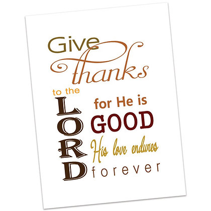 Give Thanks Printable by Kathryn Stanis