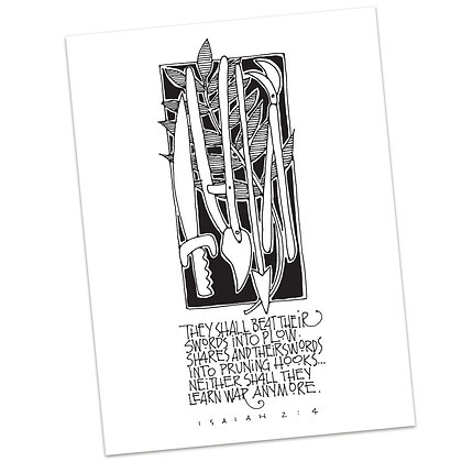 Isaiah 2:4 (vs2) by Sally Beck