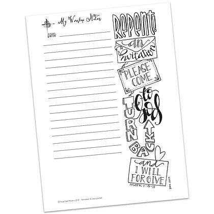 Sermon Notes HS - Mark 1:4-11