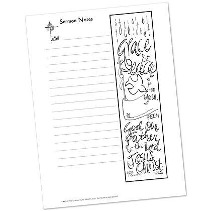 Sermon Notes HS - 1 Corinthians 1:3