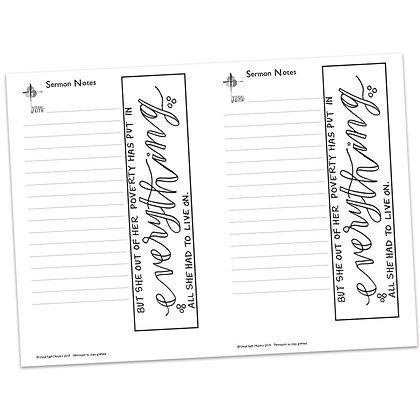 Sermon Notes - Mark 12:38-44
