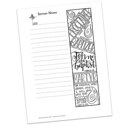 Sermon Notes HS - Mark 6:14