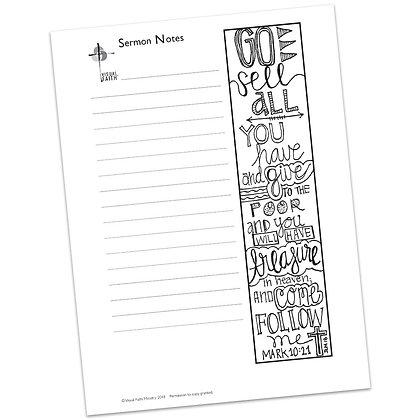 Sermon Notes HS - Mark 10:21