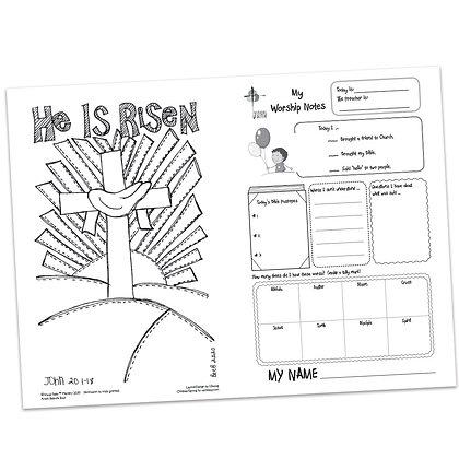 Children's Bulletin - John 20:1-18