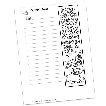 Sermon Notes HS - Luke 6:38
