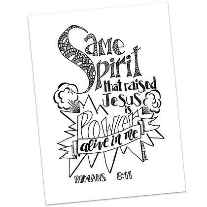 Romans 8:11 by Jennifer Barbe (version 1)