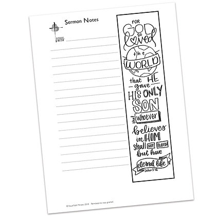 Sermon Notes HS - John 3:16 (vs1)