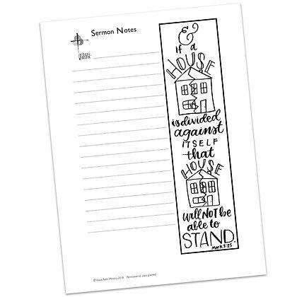 Sermon Notes HS - Mark 3:25