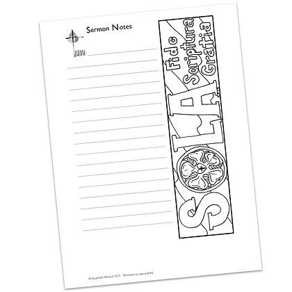Sermon Notes HS - Reformation