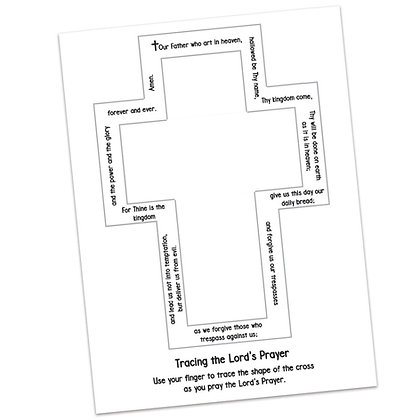 Lord's Prayer Tracing Cross by Kathryn Stanis
