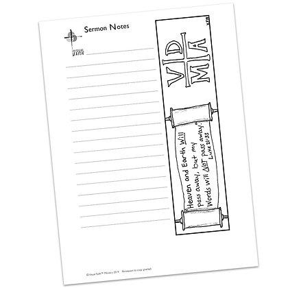 Sermon Notes HS - Luke 21:5-36