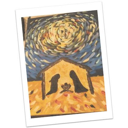 Large Star PaintedNativity by Bonnie Hughes