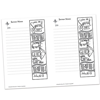Sermon Notes - John 16:13