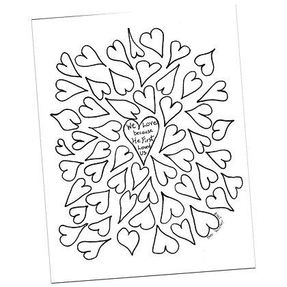 Heart Prayer Page by Bev Wicher