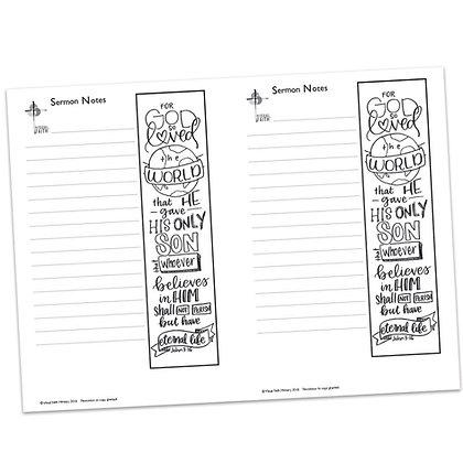 Sermon Notes - John 3:16 (vs1)