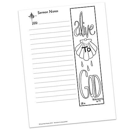 Sermon Notes HS - Romans 6:11