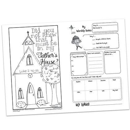 Children's Bulletin - Luke 2:40-52