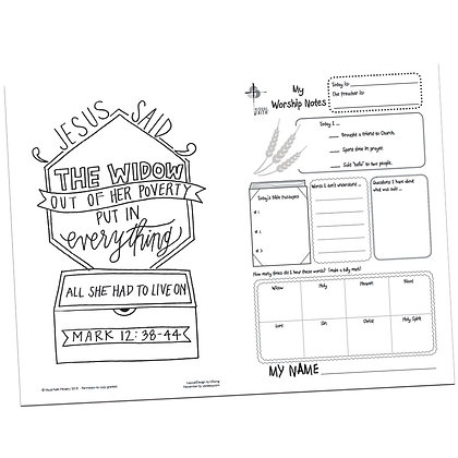 Children's Bulletin - Mark 12:38-44