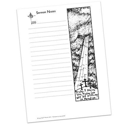Sermon Notes HS - Luke 23:27-43
