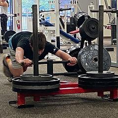 youth athlete development sled push prowler sport training