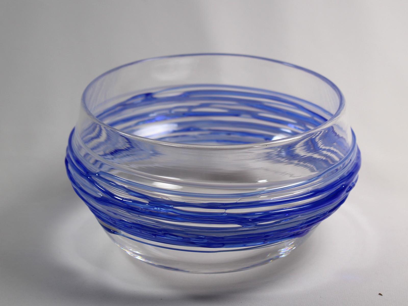 Blue Spun Bowl
