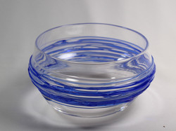 Blue Spun Bowl