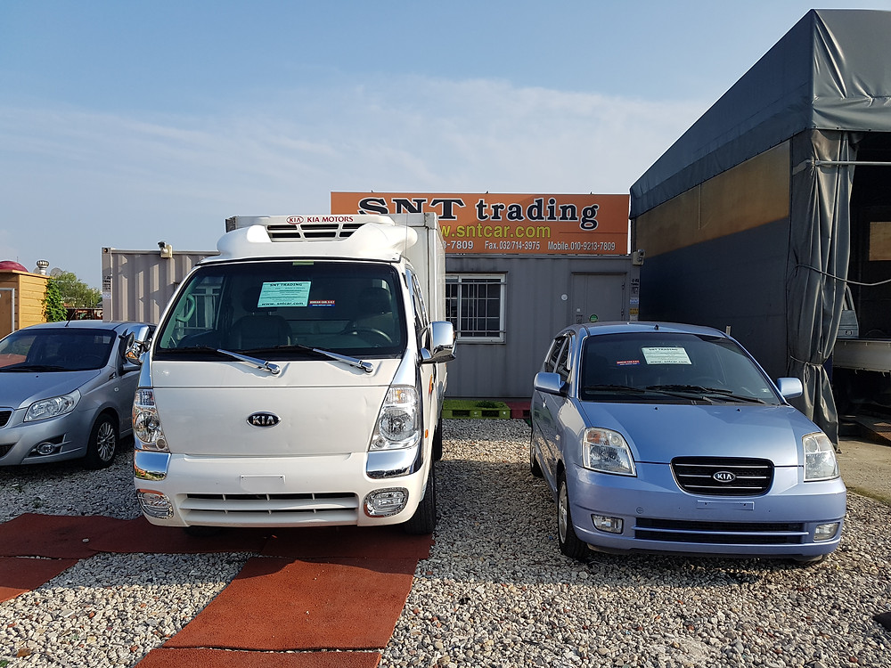 Kia, Hyundai, Freezer box. Korean used car export