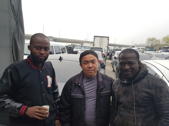 Mr.Lee with Ghana clients