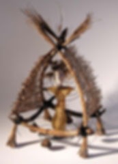 Shaman Hut - artwork by Judith Ann Cooper