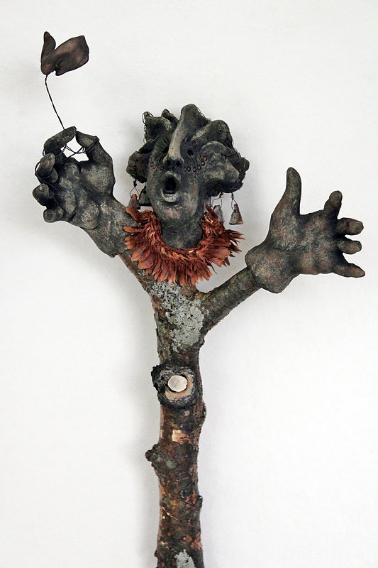 Stick Guardian: The Offering - artwork by Judith Ann Cooper