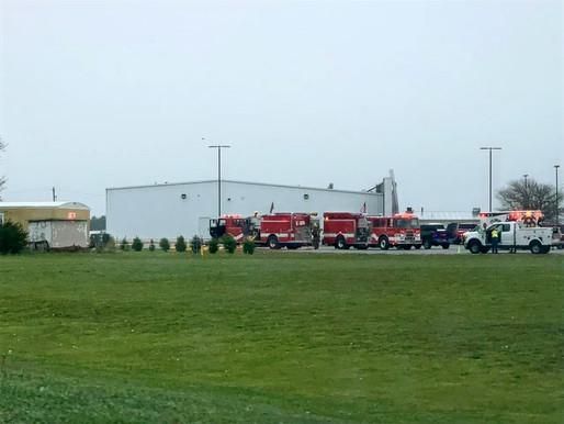 Holdrege Fire Department battles trailer house fire