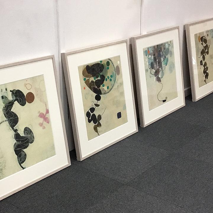Tom Wood artist framed by English Framin