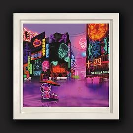 Neon artwork framed by English Framing C