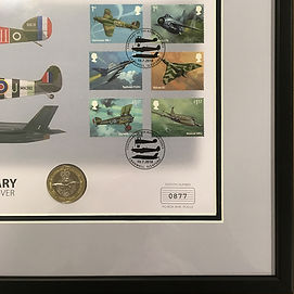 RAF Stamps framed by English Framing Co.