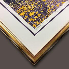 Original Block print landscape detail fr