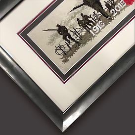 1918 2018 memorial cross stitch detail f