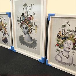 Hollywood stars framed at English Framin