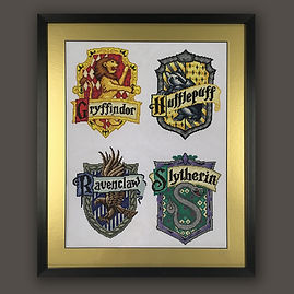 Harry Potter cross stitch 1 framed by En