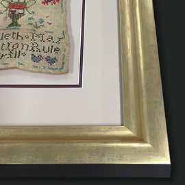 Antique cross stitch framing 1 by Englis