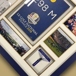 Ryder cup memorabilia 2 framed by Englis