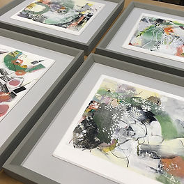 Art by Sumi Cannon 23 framed by English